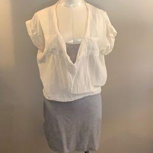 Splendid for Scoop are cotton and silk mini dress